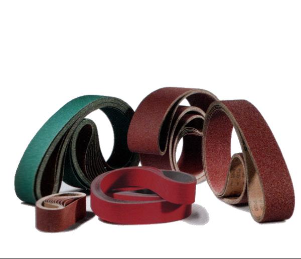 Schleifbänder Leinen mit Normalkorund, Zirkonkorund und Keramik